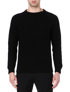 ALEXANDER MCQUEEN Skull cable-knit jumper