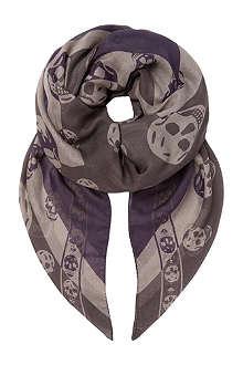 ALEXANDER MCQUEEN Union Jack skull scarf