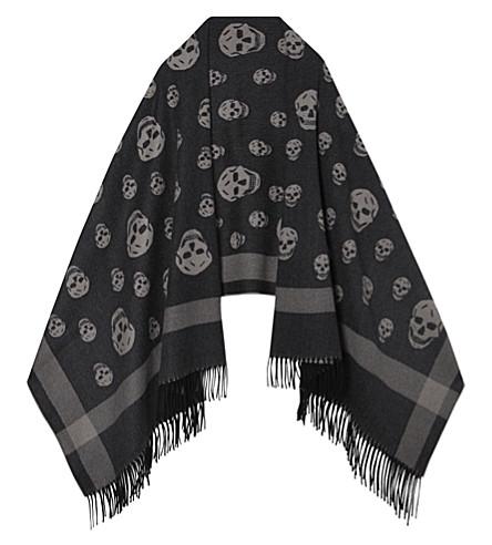 ALEXANDER MCQUEEN Skull shawl (Black/beige