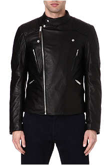 ALEXANDER MCQUEEN Skull laser-cut leather jacket