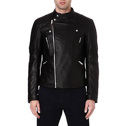 ALEXANDER MCQUEEN Skull laser-cut leather jacket (Black