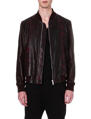 ALEXANDER MCQUEEN Python bomber jacket