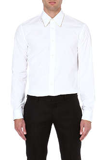ALEXANDER MCQUEEN Gold-piping slim-fit shirt