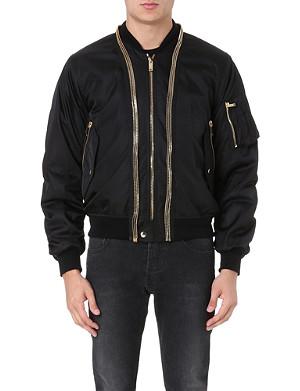 ALEXANDER MCQUEEN Gilded bomber jacket
