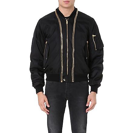 ALEXANDER MCQUEEN Gilded bomber jacket (Black