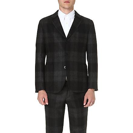 ALEXANDER MCQUEEN Plaid wool blazer (Black