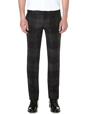 ALEXANDER MCQUEEN Plaid wool trousers