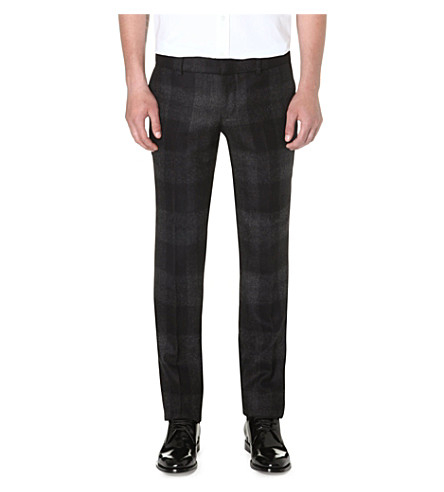 ALEXANDER MCQUEEN Plaid wool trousers (Black