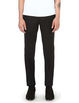 ALEXANDER MCQUEEN Subtle plaid wool trousers