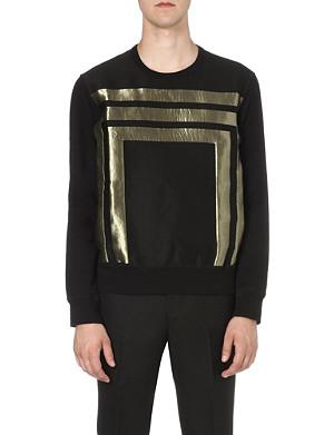 ALEXANDER MCQUEEN Geometric-appliqué sweatshirt