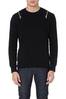 ALEXANDER MCQUEEN Zip-detail sweatshirt