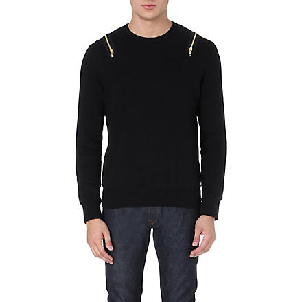 ALEXANDER MCQUEEN Zip-detail sweatshirt (Black