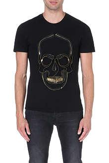 ALEXANDER MCQUEEN Zip skull t-shirt