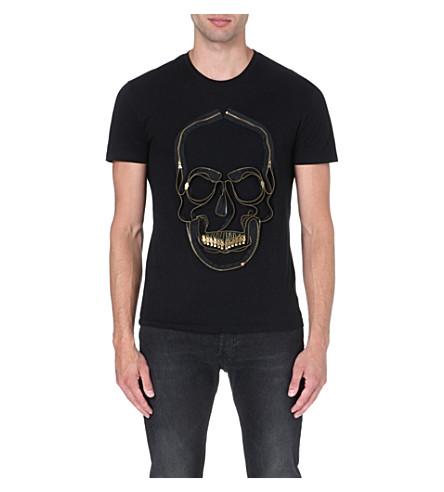 ALEXANDER MCQUEEN Zip skull t-shirt (Black