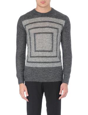 ALEXANDER MCQUEEN Geometric knitted jumper