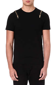 ALEXANDER MCQUEEN Zip-shoulder t-shirt