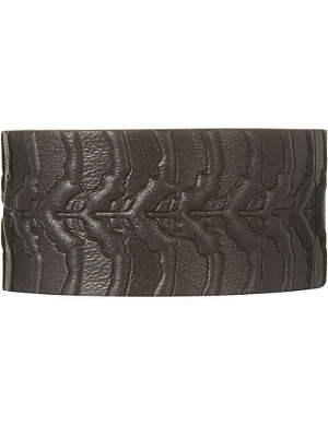 ALEXANDER MCQUEEN Spine leather wrap bracelet