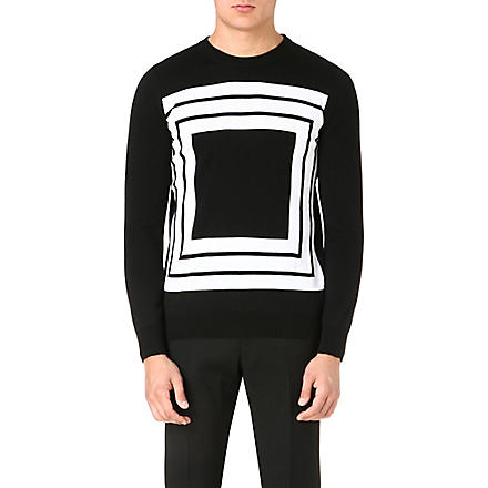 ALEXANDER MCQUEEN Knitted wool jumper (Monochrome