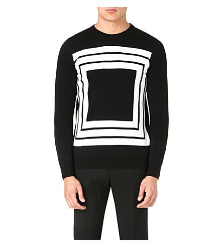 ALEXANDER MCQUEEN Knitted wool jumper (Monochrome