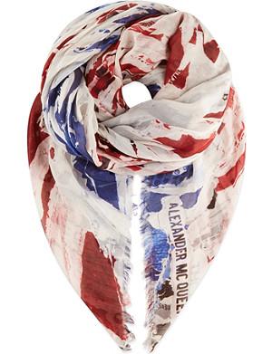 ALEXANDER MCQUEEN Union Jack scarf