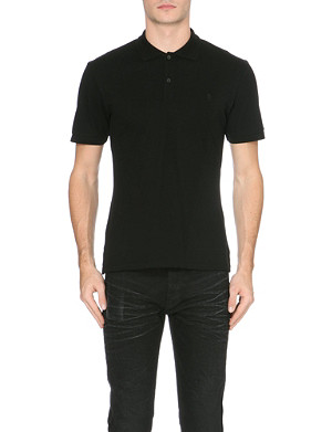 ALEXANDER MCQUEEN Logo-embroidered cotton-piqué polo shirt