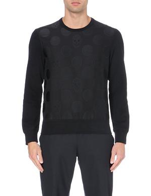 ALEXANDER MCQUEEN Skull-motif cotton-jersey sweatshirt