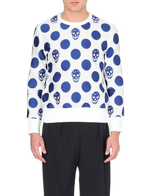 ALEXANDER MCQUEEN Skull-jaquard mesh sweatshirt