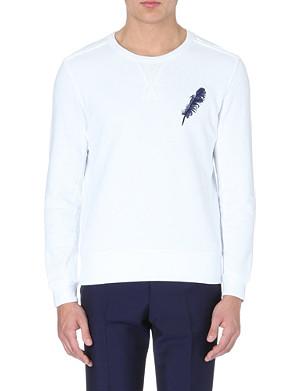 ALEXANDER MCQUEEN Feather Skull cotton-jersey sweatshirt