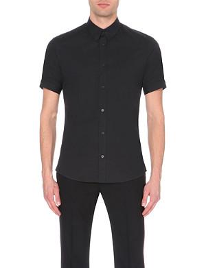 ALEXANDER MCQUEEN Brad Pitt slim-fit short-sleeved shirt