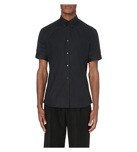 ALEXANDER MCQUEEN Slim-fit stretch-cotton shirt (Black