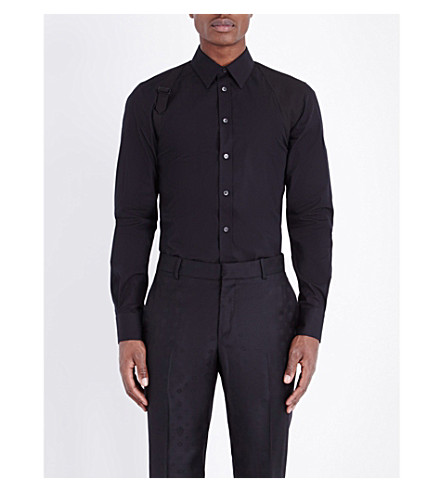 ALEXANDER MCQUEEN Slim-fit stretch-cotton shirt (Black