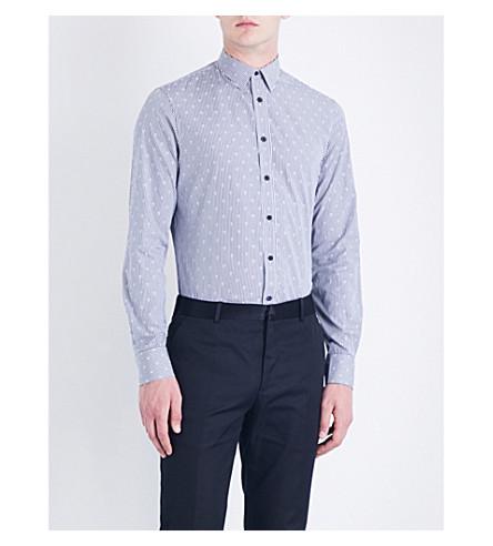 ALEXANDER MCQUEEN Stripe & Skull cotton-poplin shirt (White/black