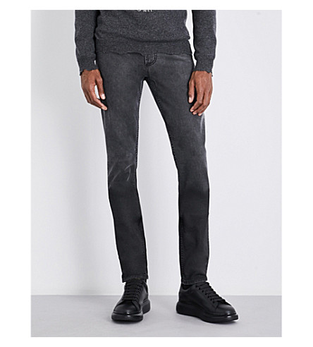 ALEXANDER MCQUEEN Straight regular-fit mid-rise jeans (Black+degra
