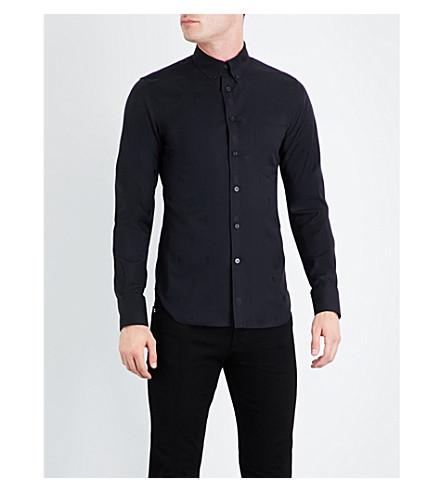 ALEXANDER MCQUEEN Skull-pattern slim-fit cotton shirt (Black