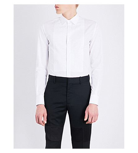 ALEXANDER MCQUEEN Broderie anglaise slim-fit cotton shirt (White