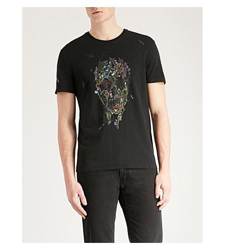 ALEXANDER MCQUEEN Garden Skull cotton-jersey T-shirt (Black+mix