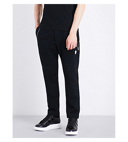 ALEXANDER MCQUEEN Zipper-detailed cotton track pants (Black