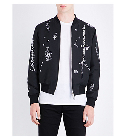 ALEXANDER MCQUEEN Safety pin woven bomber jacket (Mix