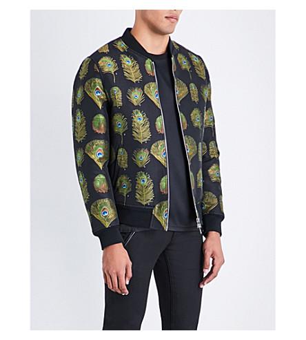 ALEXANDER MCQUEEN Peacock jacquard jacket (Mix