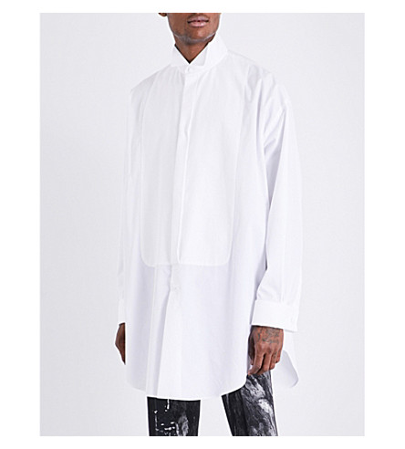 ALEXANDER MCQUEEN Oversized cotton shirt (White