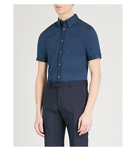 ALEXANDER MCQUEEN Brad slim-fit stretch-cotton shirt (Navy