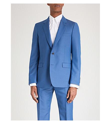 ALEXANDER MCQUEEN Regular-fit wool-blend jacket (Ocean+blue