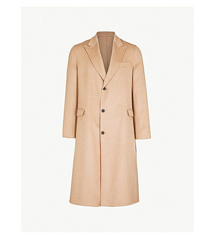 ALEXANDER MCQUEEN Single-breasted wool-blend coat (Camel