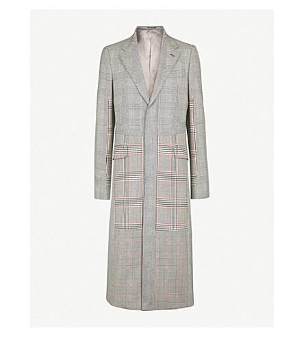 ALEXANDER MCQUEEN Checked wool-blend coat (Black+white