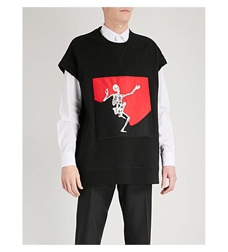 ALEXANDER MCQUEEN Skeleton-patch cotton-jersey vest (Black