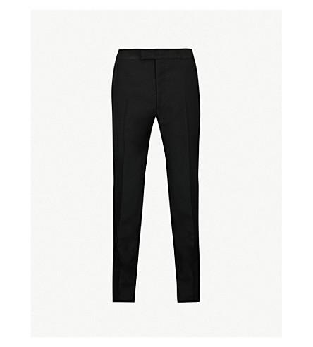 ALEXANDER MCQUEEN Regular-fit wool and mohair-blend trousers (Black