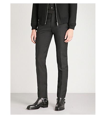 ALEXANDER MCQUEEN 常规版型羊毛和马海毛混合裤子 (黑色