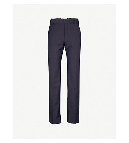 ALEXANDER MCQUEEN Regular-fit wool-blend trousers (Navy