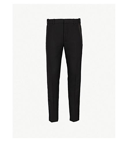 ALEXANDER MCQUEEN 常规版型直羊毛混纺裤子 (黑色