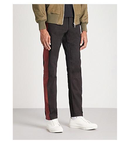 ALEXANDER MCQUEEN Side stripe slim-fit straight jeans (Black